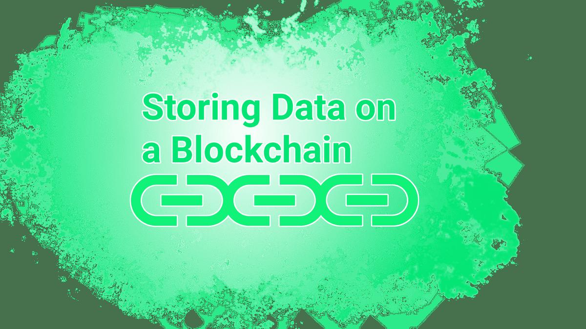 Almacenamiento de datos en Blockchain